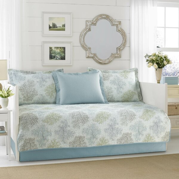 Saltwater 100% Cotton 5 Piece Twin Daybed Set by Laura Ashley Home by Laura Ashley Home